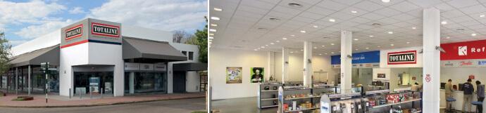 Totaline cuenta con más de 15 negocios en todo el país.
